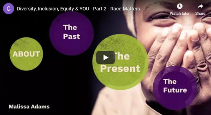 Diversity, Inclusion, Equity & YOU: Part 2 - Race Matters