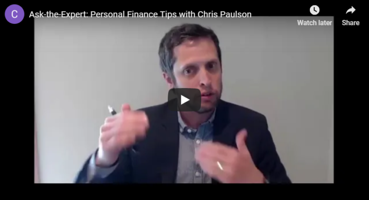Personal Finance Tips with Chris Paulson