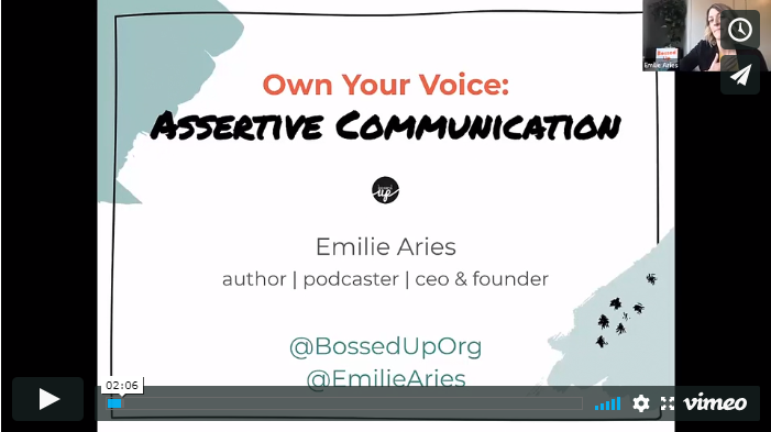 Own Your Voice: Assertive Communication